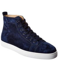 Christian Louboutin Louis Suede High-top Sneaker - Blue