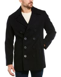 Brooks Brothers Wool-blend Peacoat - Black