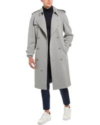 Burberry Jersey Long Trench Coat - Gray