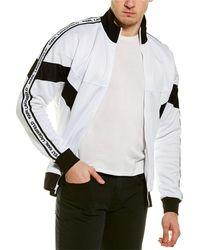 Karl Lagerfeld Logo Tape Track Jacket - White