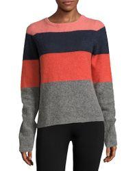 Equipment Calais Striped Colorblock Pullover - Multicolour