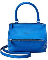 Givenchy Pandora Small Leather Shoulder Bag - Blue