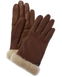 UGG Classic Leather Tech Gloves - Brown