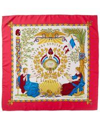 "Hermès ""liberte Egalite Fraternite,"" By Joachim Metz Silk Scarf - Multicolour"