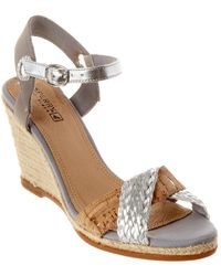 Sperry Top-Sider Saylor Leather Wedge Sandal - Metallic