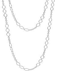 Argento Vivo Silver 36in Necklace - Metallic