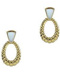 Argento Vivo 18k Over Silver Mother-of-pearl Dangle Earrings - Metallic