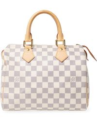 Louis Vuitton Vintage Damier Azur Ab Speedy25 Satchel - White