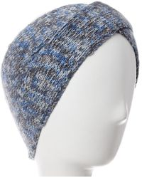 Portolano Cashmere Lurex Headband - Blue