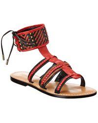 Schutz Dudinik Leather Sandal - Red