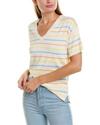 525 America Boxy Striped Top - Multicolour