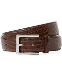 Saks Fifth Avenue - Textured Leather Belt - Lyst