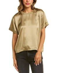 ATM Charmeuse Silk Short Sleeve Boy T-shirt - Green