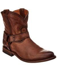 Frye Wyatt Harness Short Boot - Brown