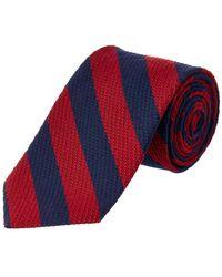 Brooks Brothers - Red Striped Silk-wool Blend Tie - Lyst