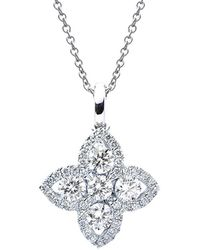 Suzy Levian 18k Rose Gold 1.00 Ct. Tw. Diamond Pendant Necklace - Metallic
