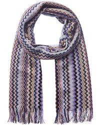 Missoni Wool-blend Scarf - Blue