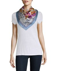 Vince Camuto - Love Letter Silk Square Scarf - Lyst