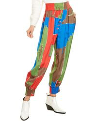 Tory Burch Printed Pyjama Trousers - Blue