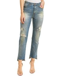 AG Jeans Phoebe 17 Years Lapse Mended High-rise Tapered Leg - Blue