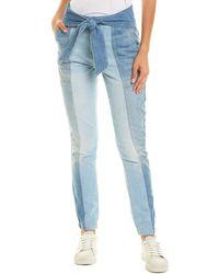 Jonathan Simkhai Henley Tie-waist Big Sur Straight Leg Jean - Blue