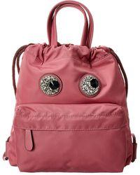 Anya Hindmarch Crystal Eyes Mini Drawstring Backpack - Pink