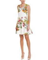 Donna Ricco A-line Dress - White