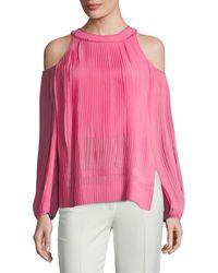 SemSem Maryam Cold-shoulder Top - Pink
