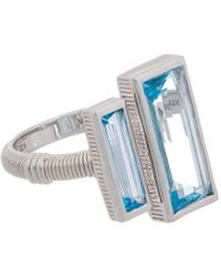 Judith Ripka Cityscapes Silver 5.20 Ct. Tw. Gemstone Ring