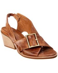 Antelope 505 Heeled Leather Sandal - Brown