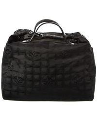 Chanel Black Travel Ligne Nylon Duffle Bag