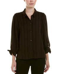 BCBGeneration Ruched Sleeve Top - Brown