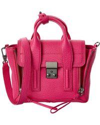 3.1 Phillip Lim Pashli Mini Leather Satchel - Pink