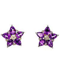 Arthur Marder Fine Jewelry - Silver 0.42 Ct. Tw. Diamond & Amethyst Earrings - Lyst