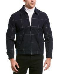 Club Monaco Windowpane Shirt Jacket - Blue