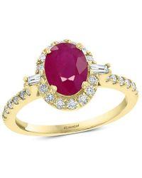 Effy 14k 1.83 Ct. Tw. Ruby Ring - Metallic