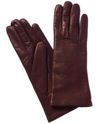Portolano Leather Gloves - Red
