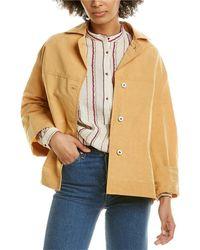 Forte Forte Linen-blend Oversized Jacket - Orange