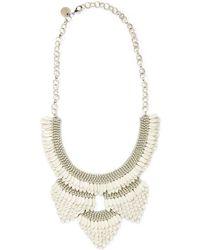 Deepa Gurnani - Enamel Feather Statement Necklace - Lyst