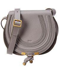 Chloé Marcie Mini Leather Shoulder Bag - Gray