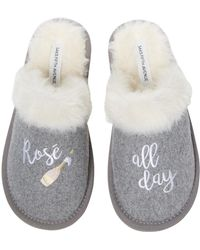 Saks Fifth Avenue Rose All Day Slippers - Grey