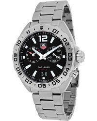 Tag Heuer Men's Swiss Chronograph Formula 1 Stainless Steel Bracelet Watch 41mm Waz111a.ba0875 - Metallic