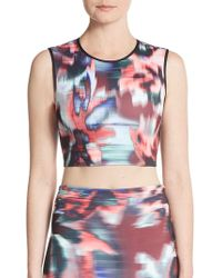 Clover Canyon - Floral Ikat Cropped Top - Lyst