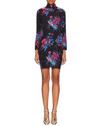 Tocca - Silk Crepe Print Standing Dress - Lyst
