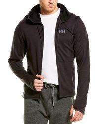 Helly Hansen Fleece Hooded Wool Jacket - Black