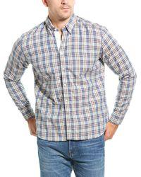 Billy Reid Irvine Plaid Regular Fit Button - Down Shirt - Blue