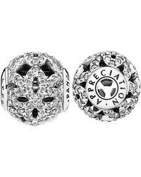 PANDORA Essence Silver & Cz Appreciation Charm - Metallic