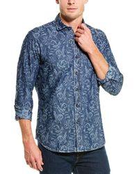 Robert Graham Waynes Tailored Fit Woven Shirt - Blue