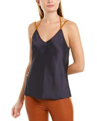Helmut Lang Rubberband Slip Silk-lined Top - Blue
