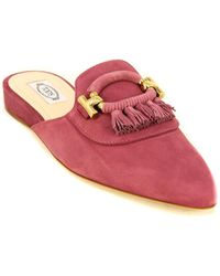 Tod's Tod?s Wedge Suede Slip On - Multicolour